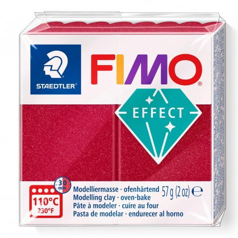 Fimo Effect Metallic Ruby Red 28