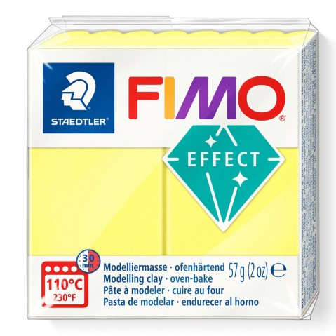 Fimo Effect Transparent Yellow 104
