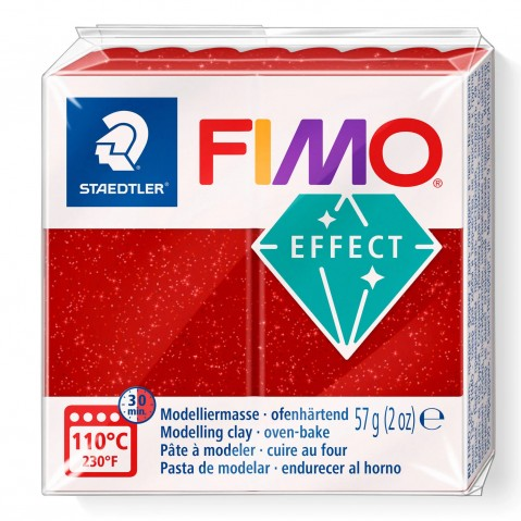 Fimo Effect Glitter Red 202