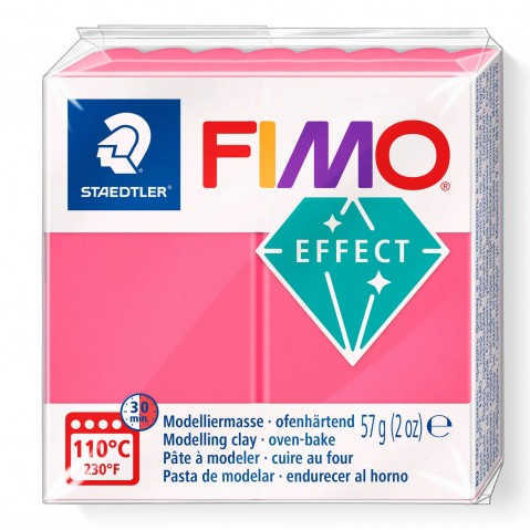 Fimo Effect Transparent Red 204