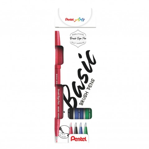 Conjunto Marcadores Sign Pen Brush Touch Small Basic
