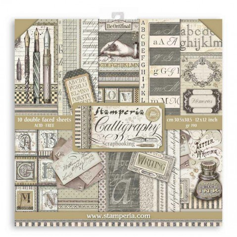 Bloco Papel Scrapbooking Classic Christmas SBBL74 STAMPERIA 30X30CM
