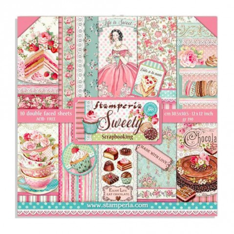 Bloco Papel Sweety SBBL78 STAMPERIA 30X30CM