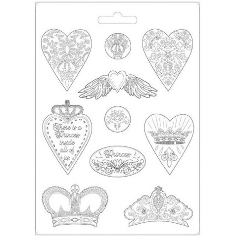 Molde Stamperia Hearts and Crowns K3PTA471
