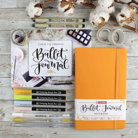Conjunto Bullet Journal Orange Art Creation