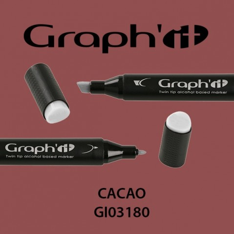 Marcador Graph'it 2 Pontas CACAO GI03180