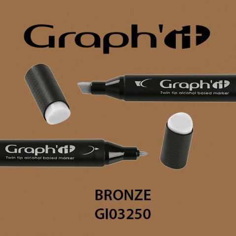Marcador Graph'it 2 Pontas BRONZE GI03250