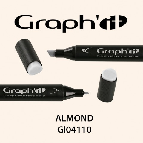 Marcador Graph'it 2 Pontas ALMOND GI04110