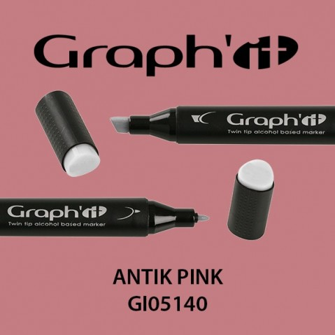 Marcador Graph'it 2 Pontas ANTIK PINK GI05140