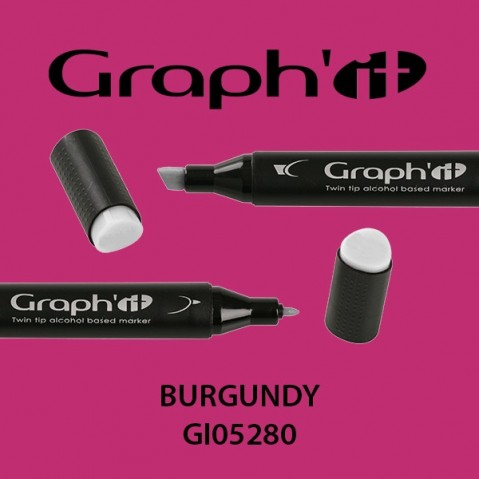 Marcador Graph'it 2 Pontas BURGUNDY GI05280