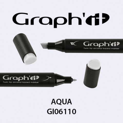 Marcador Graph'it 2 Pontas AQUA GI06110