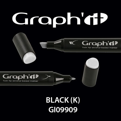 Marcador Graph'it 2 Pontas BLACK (K) GI09909